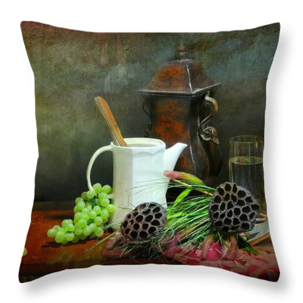 The White Spout Throw Pillow by Diana Angstadt