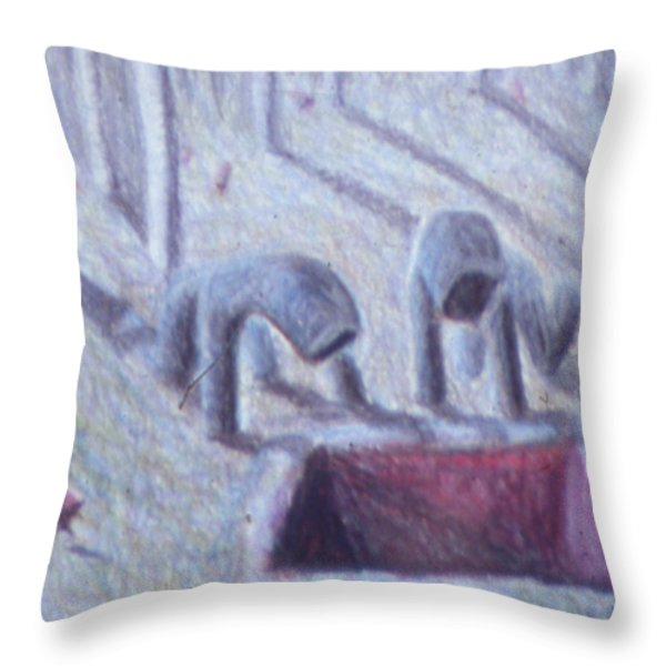 The Whole Throw Pillow by Nancy Mauerman