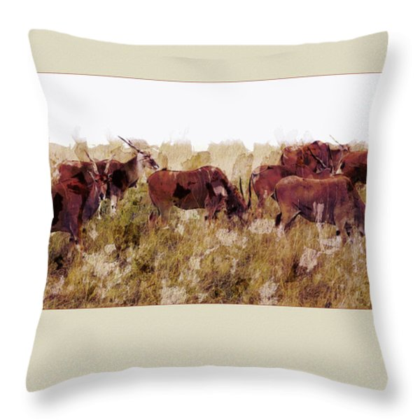 The Wilds Throw Pillow by Ron Jones