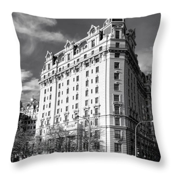 The Willard Hotel Throw Pillow by Olivier Le Queinec