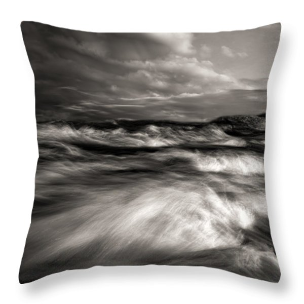 The Wind And The Sea Throw Pillow by Bob Orsillo