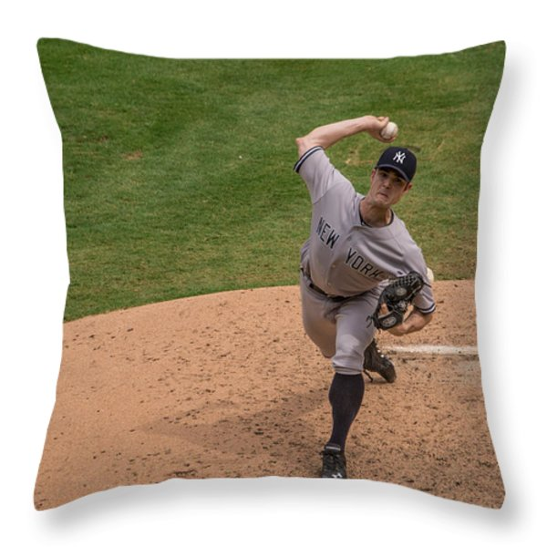 The Wind Up Throw Pillow by Dan Marrera