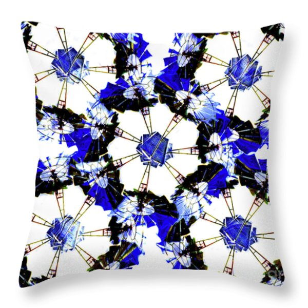 The Windmills Of My Mind Bouquet Throw Pillow by Andee Design