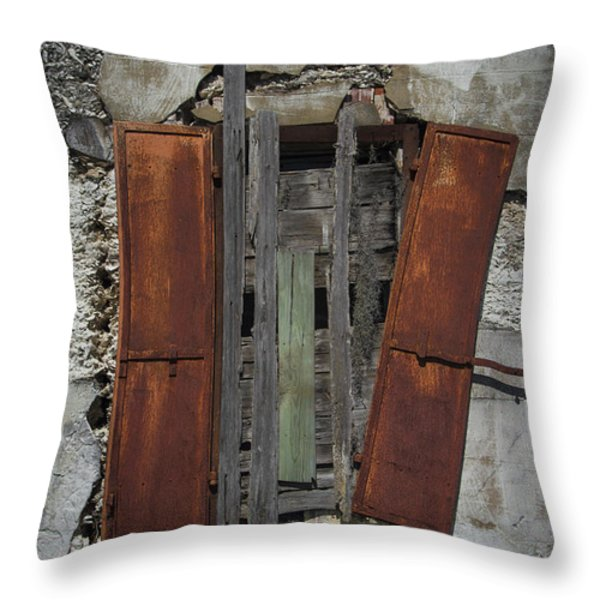 The Window Throw Pillow by Debra and Dave Vanderlaan