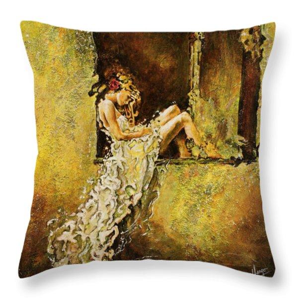 The Window Throw Pillow by Karina Llergo Salto