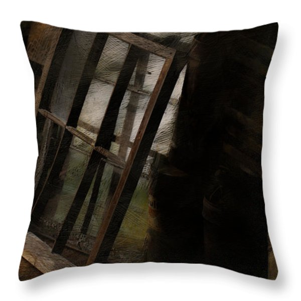 The Window Shop Throw Pillow by Ron Jones