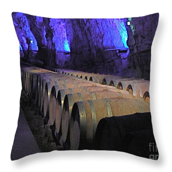 The Wine Cave Throw Pillow by France  Art