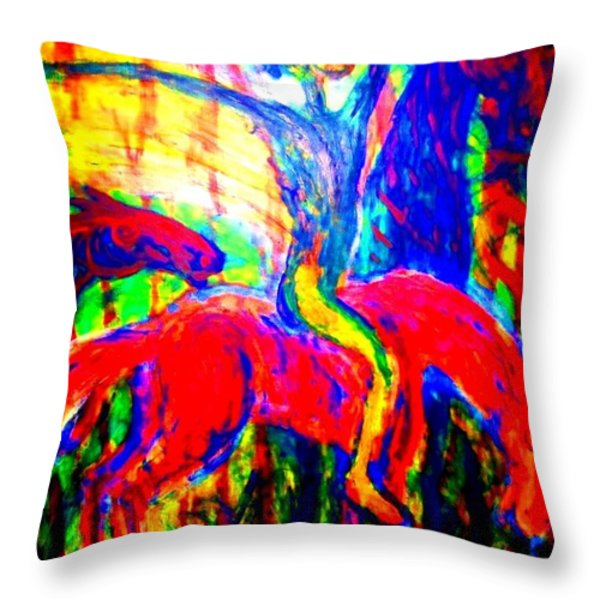 The Winner Takes It All Throw Pillow by Hilde Widerberg