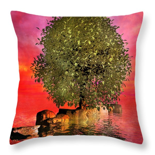 The Wishing Tree Two of Two Throw Pillow by Betsy A  Cutler
