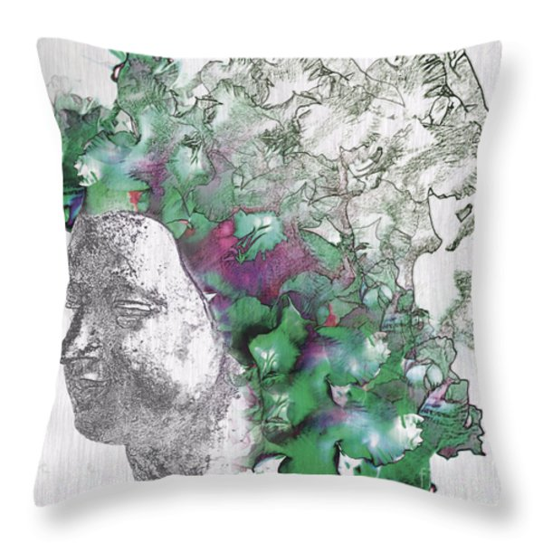 The Woman From Yes Throw Pillow by Nola Lee Kelsey