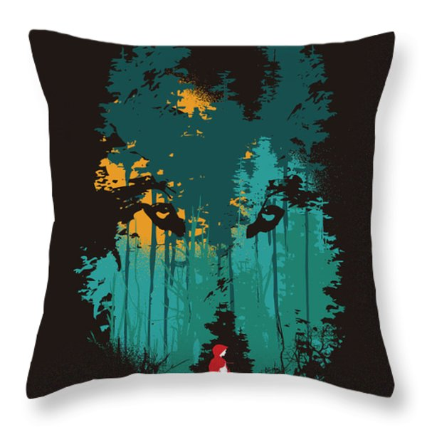 The Woods Belong To Me Throw Pillow by Budi Kwan