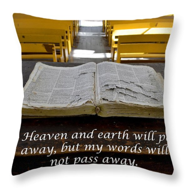 The Word Throw Pillow by Debra Johnson
