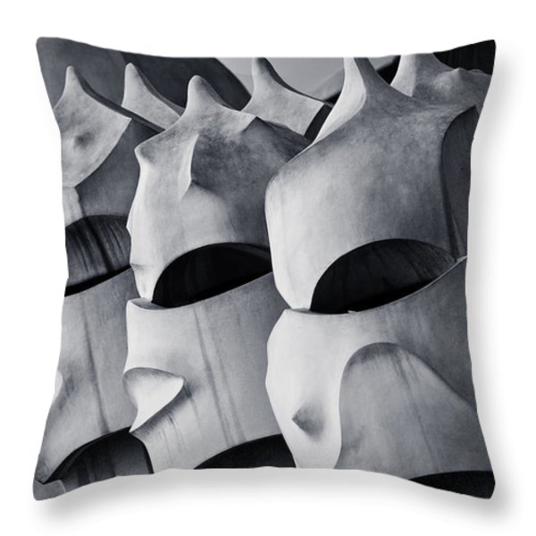 The World of Gaudi Throw Pillow by Erik Brede