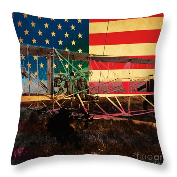 The Wright Bothers An American Original Throw Pillow by Wingsdomain Art and Photography