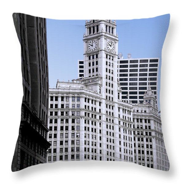 The Wrigley - A building that is pure Chicago Throw Pillow by Christine Till