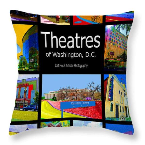 Theatres Of Washington Dc Throw Pillow by Jost Houk