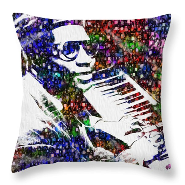 Thelonious Monk Throw Pillow by Jack Zulli