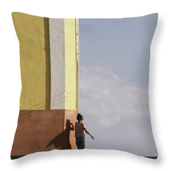 There Is A Super Hero Inside All Of Us.. Throw Pillow by A Rey
