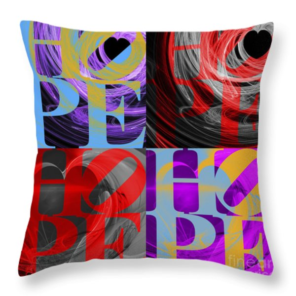 There Is Hope 20130711 Throw Pillow by Wingsdomain Art and Photography