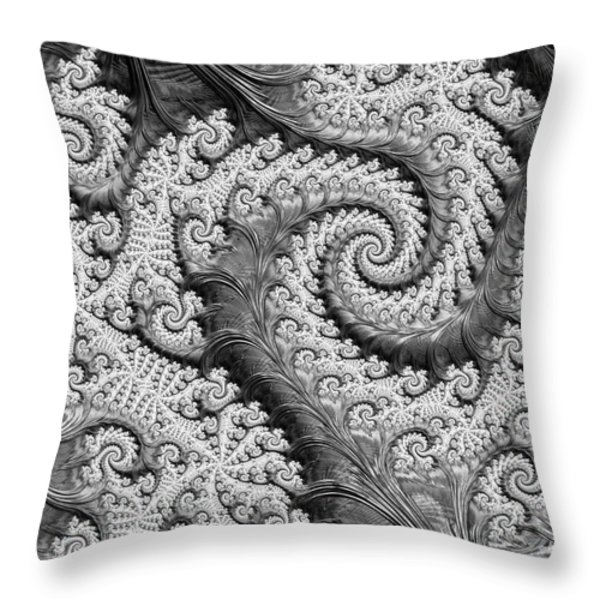 There's A Chill In The Air Throw Pillow by Heidi Smith
