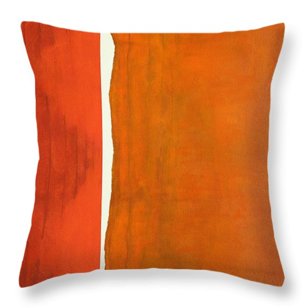 There's A Crack In Everything Original Painting Sold Throw Pillow by Sol Luckman