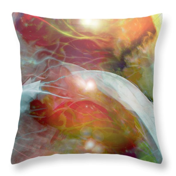 Theta Brain Waves Throw Pillow by Linda Sannuti