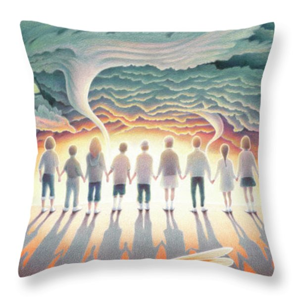 They Stand Resolute Throw Pillow by Amy S Turner