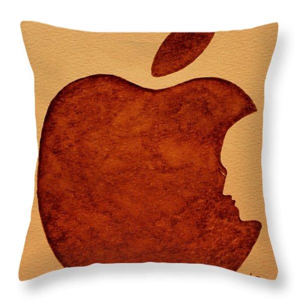 Think Different Steve Jobs 3 Throw Pillow by Georgeta  Blanaru