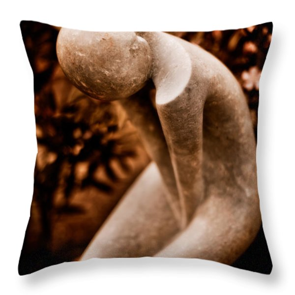 Thinking About You Throw Pillow by Venetta Archer