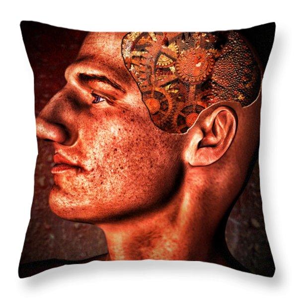 Thinking Man Throw Pillow by Bob Orsillo