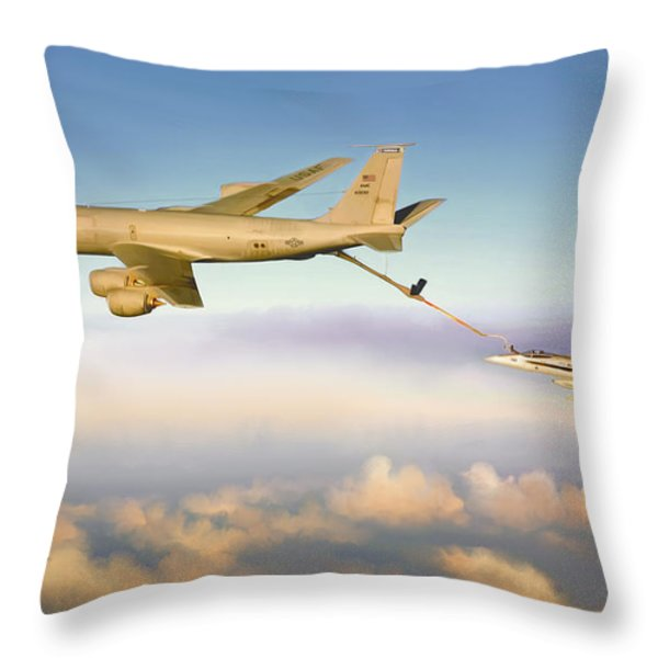 Thirsty Hornet Throw Pillow by Dale Jackson