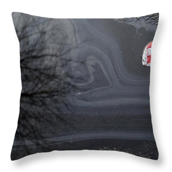 Thirsty Throw Pillow by Luke Moore