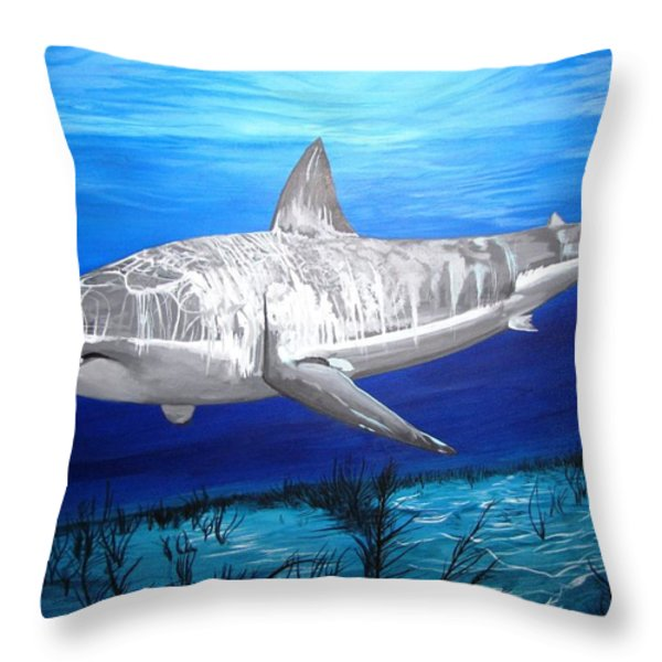 This Is A Shark Throw Pillow by Kevin F Heuman