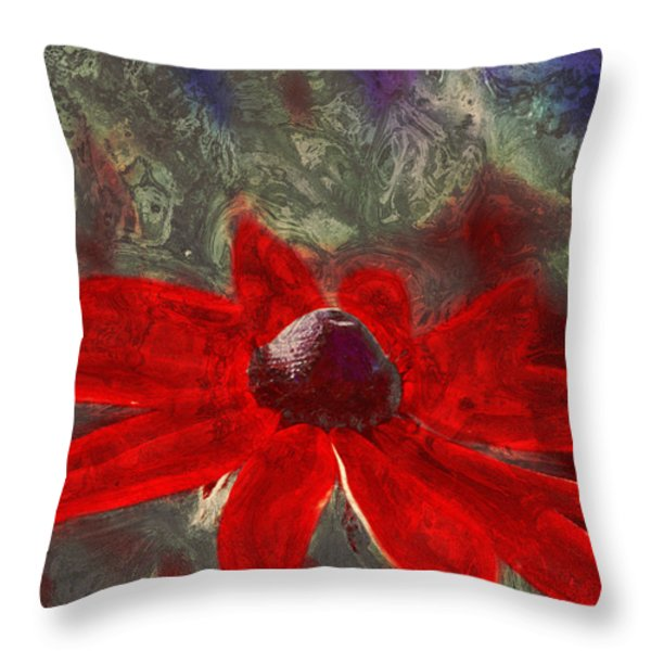 This Is Not Just Another Flower - Spr01 Throw Pillow by Variance Collections