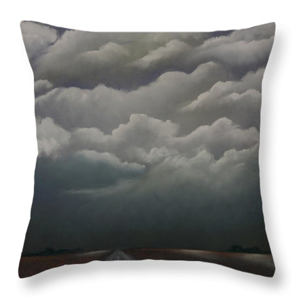 This Menacing Sky Throw Pillow by Cynthia Lassiter