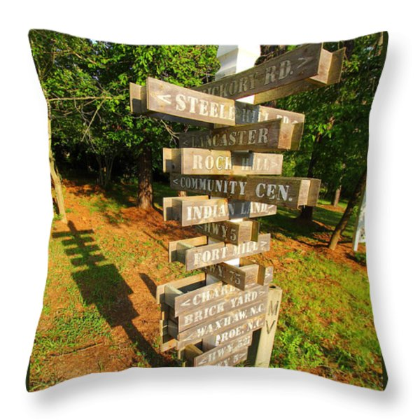 A Sign In Lancaster Throw Pillow by Joseph C Hinson Photography