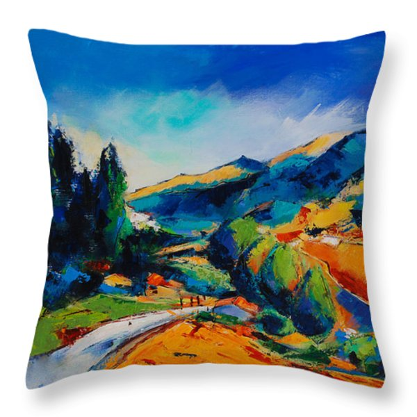 This Way To Heaven Throw Pillow by Elise Palmigiani