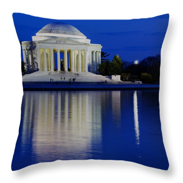 Thomas Jefferson Memorial Throw Pillow by Andrew Pacheco