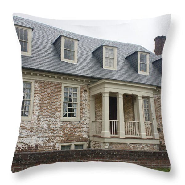 Thomas Sessions House Yorktown Throw Pillow by Teresa Mucha