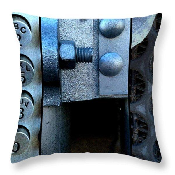 Thou Shalt Not Steel Throw Pillow by Marlene Burns