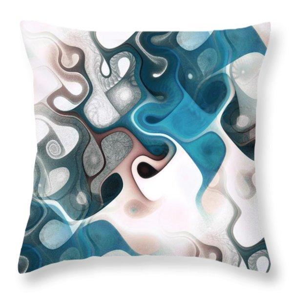 Thought Process Throw Pillow by Anastasiya Malakhova