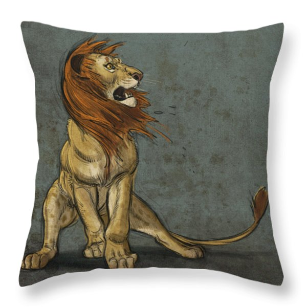 Threatened Throw Pillow by Aaron Blaise