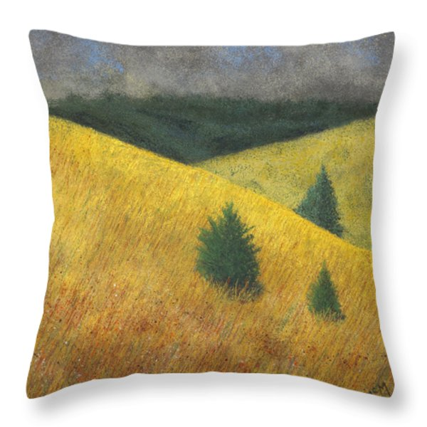 Three Cedars Throw Pillow by Garry McMichael