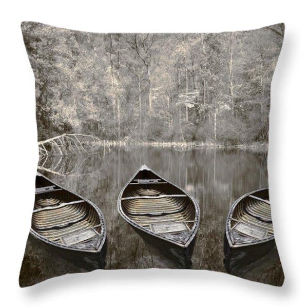 Three Throw Pillow by Debra and Dave Vanderlaan