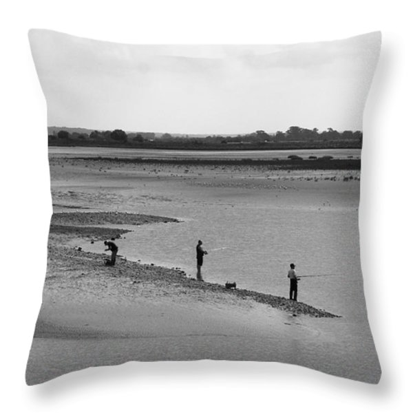 The Banks Of The Somme Throw Pillow by Aidan Moran