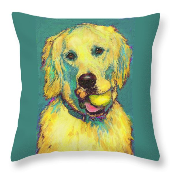 Three Hundred Fiftyfourth Retrieve Throw Pillow by Jane Schnetlage