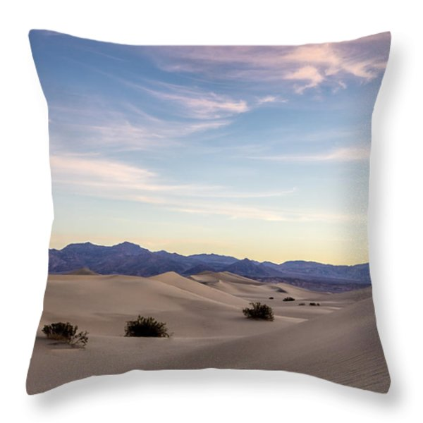 Three in the Sand Throw Pillow by Jon Glaser