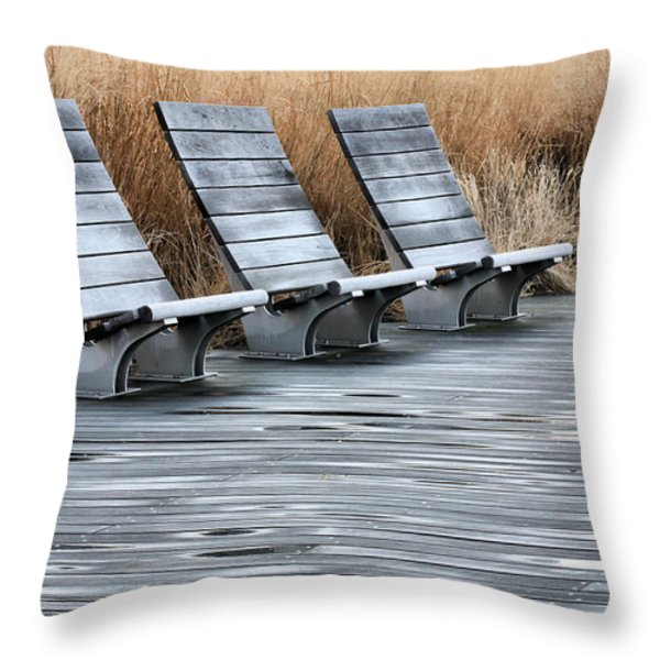 Three Throw Pillow by JC Findley