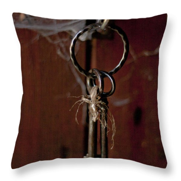Three Keys Throw Pillow by Nomad Art And  Design
