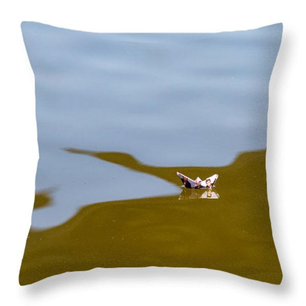 Three Men In A Boat - Featured 3 Throw Pillow by Alexander Senin